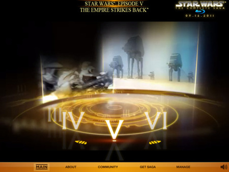 star wars blu-ray ipad app screens